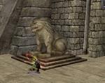 チューラン城-ライオン像